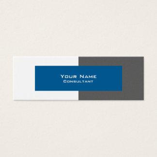 専門の灰色および青の名刺のテンプレート スキニー名刺