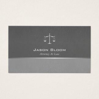 専門の灰色の弁護士 名刺