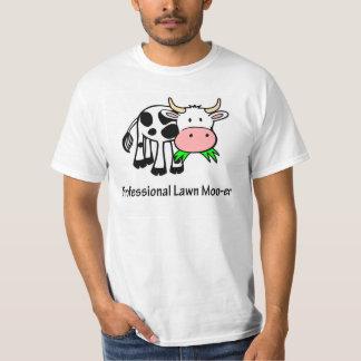 専門の芝生Mooえー牛Tシャツ Tシャツ