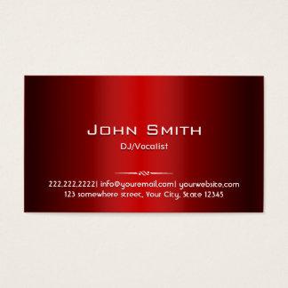専門の赤い金属DJの音楽業界カード 名刺