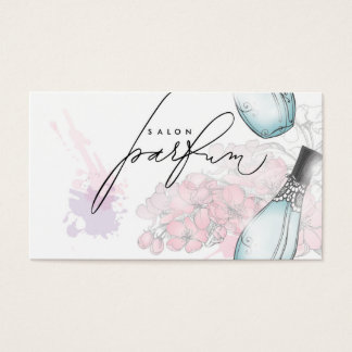 専門の香水のサロンの美しいの芳香カード 名刺
