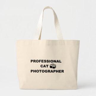 専門猫のカメラマン ラージトートバッグ
