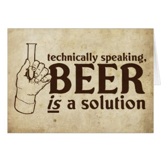 専門的に言えば、ビールは解決です カード