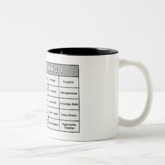 専門語のビンゴのマグ ツートーンマグカップ