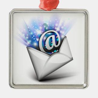 射出する電子メール メタルオーナメント