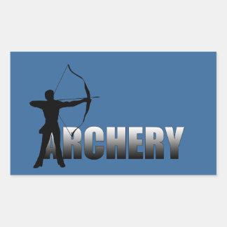 射手の夏のゲームのアーチェリー2012年 長方形シール