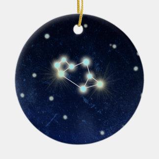 射手座の星座|の名前をカスタムする 陶器製丸型オーナメント