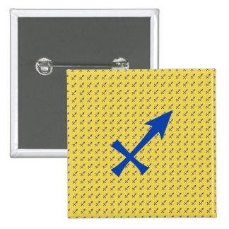 射手座の記号 5.1CM 正方形バッジ