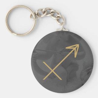 射手座の(占星術の)十二宮図の印|のカスタムな背景 キーホルダー