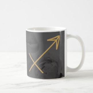 射手座の(占星術の)十二宮図の印|のカスタムな背景 コーヒーマグカップ