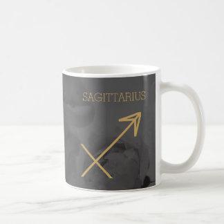 射手座の(占星術の)十二宮図の印|のカスタムな背景 + 文字 コーヒーマグカップ