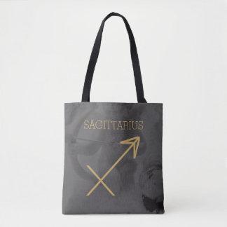 射手座の(占星術の)十二宮図の印|のカスタムな背景 + 文字 トートバッグ