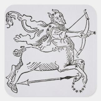射手座(ケンタウルス)からのイラストレーション スクエアシール