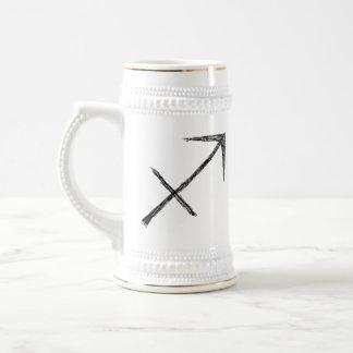 射手座。 (占星術の)十二宮図の占星術の印 ビールジョッキ