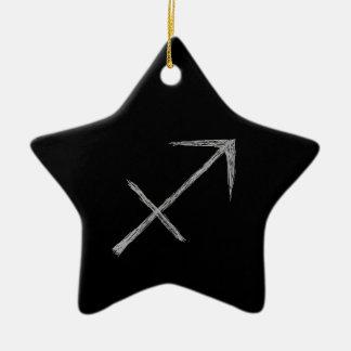 射手座。 (占星術の)十二宮図の占星術の印。 黒 陶器製星型オーナメント