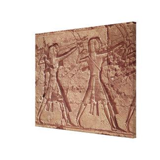 射手、Ramesses IIIの狩りからの詳細 キャンバスプリント