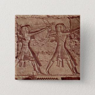 射手、Ramesses IIIの狩りからの詳細 5.1cm 正方形バッジ