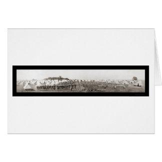 射撃場の軍隊WWIの写真1913年 カード