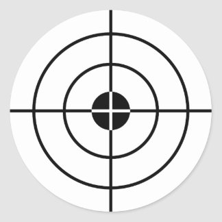 射撃演習のステッカー ラウンドシール
