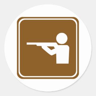 射撃練習場のハイウェーの印 ラウンドシール