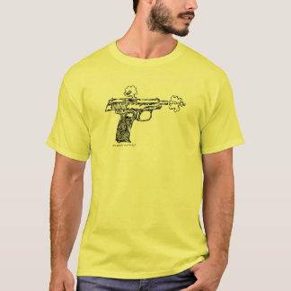 射撃、発砲のマカロフのピストルグラフィックアートの都市Tシャツ Tシャツ