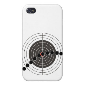 射撃、発砲ターゲット上の機関銃弾痕 iPhone 4/4S CASE