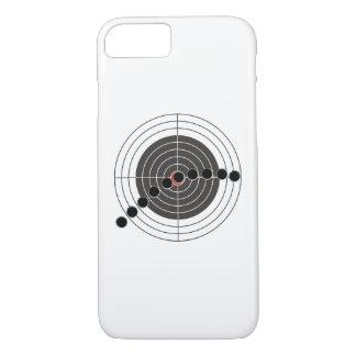 射撃、発砲ターゲット上の機関銃弾痕 iPhone 8/7ケース