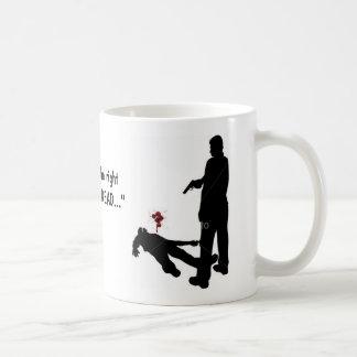 """射撃、発砲、血、血、""""右が…    あります コーヒーマグカップ"""