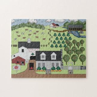小ぎれいな丘の農場 ジグソーパズル