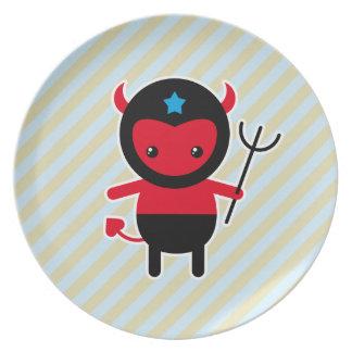 小さいかわいいの忍者の悪魔 プレート