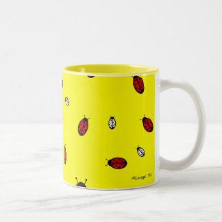 小さいてんとう虫のマグ ツートーンマグカップ
