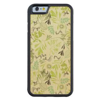 小さいひな鳥を表示するパターン CarvedメープルiPhone 6バンパーケース