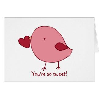 小さいひよこのバレンタインカード カード