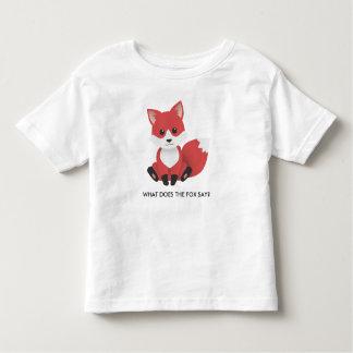 小さいアカギツネ トドラーTシャツ