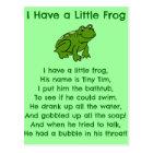 小さいカエルの詩 ポストカード