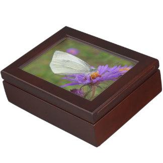 小さいキャベツ白の蝶 ジュエリーボックス