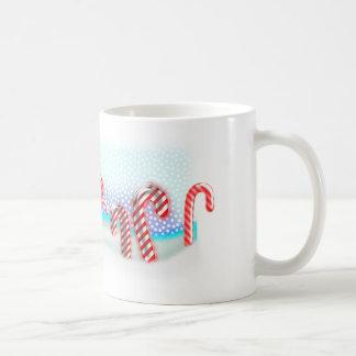 小さいキャンディ・ケーンの森林クリスマス コーヒーマグカップ