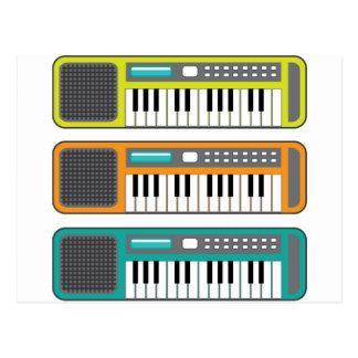 小さいキーボードのベクトル ポストカード