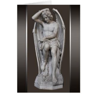 小さいギヨームGeefs Luciferの彫刻CC0930 ノートカード
