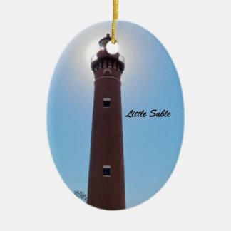 小さいクロテンの灯台 セラミックオーナメント