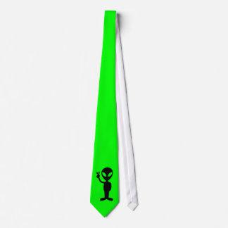 小さいグリーンマン ネクタイ