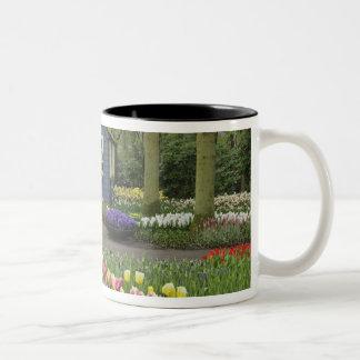 小さいコテッジの花屋、Keukenhofの庭、 ツートーンマグカップ