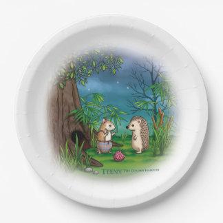 小さいゴールデンハムスター-紙皿をパーティを楽しんで下さい ペーパープレート