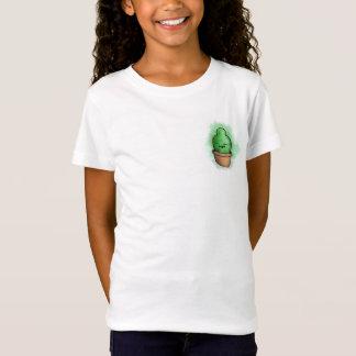 小さいサボテンの漫画のTシャツ Tシャツ