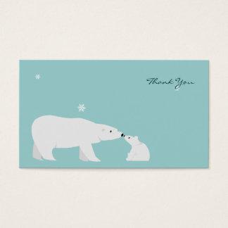 小さいサンキューカード: 白くま 名刺