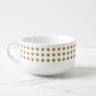 小さいダイヤモンドは金黄色く白いパターンを形づけます スープマグ