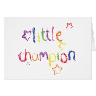 小さいチャンピオンのお祝いカード グリーティングカード