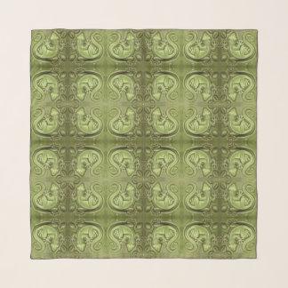 小さいトカゲのヴィンテージのタイルの緑のヤモリの幸運 スカーフ