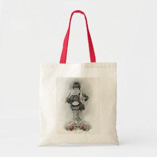 小さいドラマーの男の子のバッグ トートバッグ