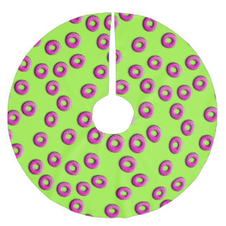 小さいドーナツの継ぎ目が無いパターン + あなたのアイディア ブラッシュドポリエステルツリースカート